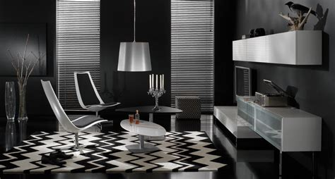 Black And White Modern Living Room Furniture Contemporary Living Room Furniture