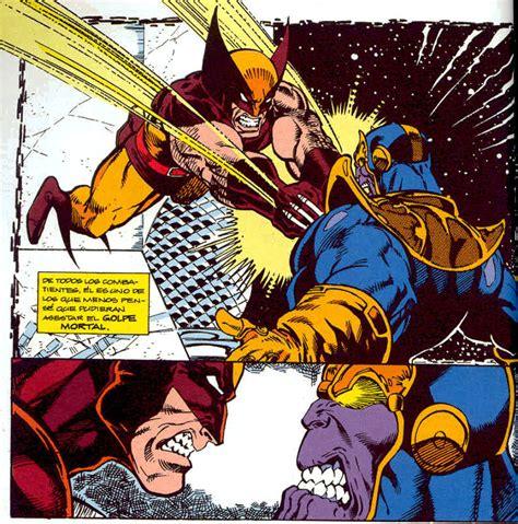 imagenes de wolverine vs superman imagen wolverine vs thanos guantelete del infinito