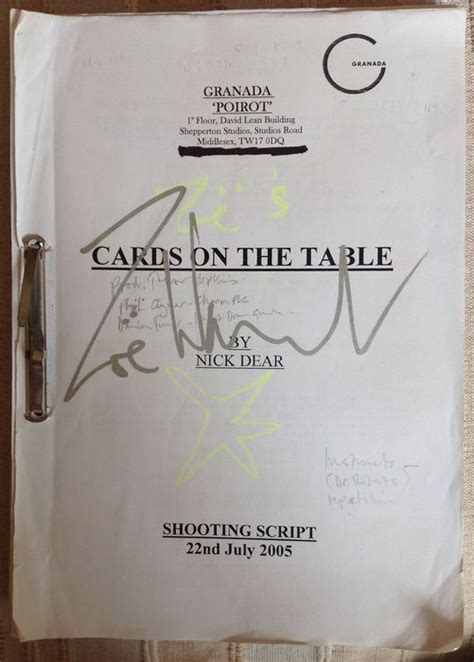 cards on the table series 15 agatha christie script cards on the table poirot series
