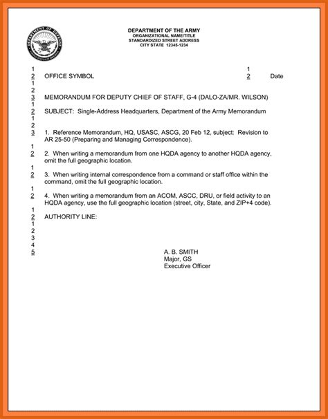 us army memorandum for record template army correspondence memorandum for record images