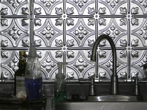 how to create a tin tile backsplash hgtv metal backsplash ideas hgtv
