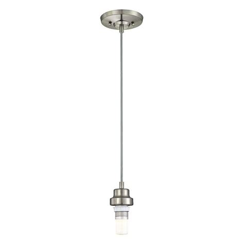 westinghouse 61030 1 light brushed nickel finish led