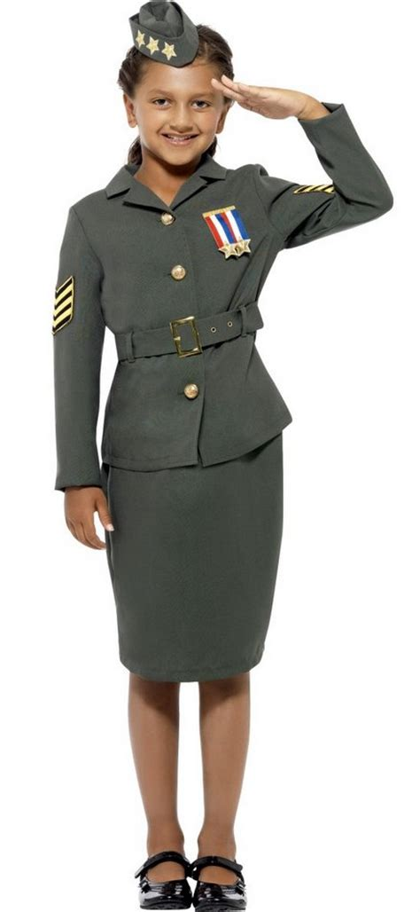 world war 2 outfits child s world war ii army girl costume candy apple
