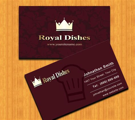 fine restaurant business cards free psd business card