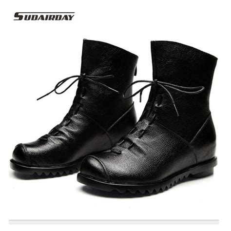 Womens Handmade Boots - 2016 new fashion leather boots winter shoes casual