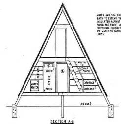 a frame cabin plans free a frame house plan 24 feet high