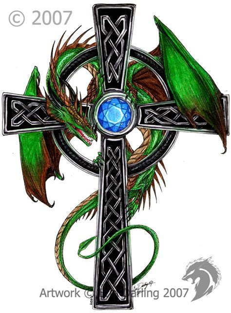 celtic dragon cross by hybridgeist on deviantart