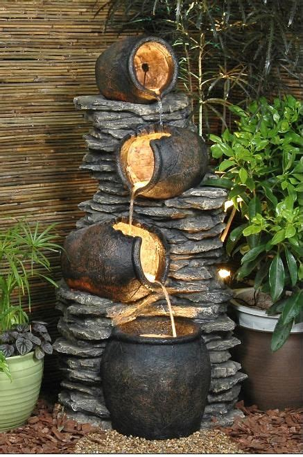 garden rock features 1000 ideas about outdoor water fountains on
