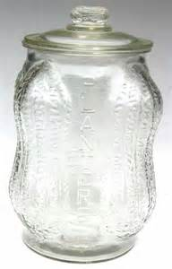 157 antique planter s peanut glass jar w lid 14 quot tal