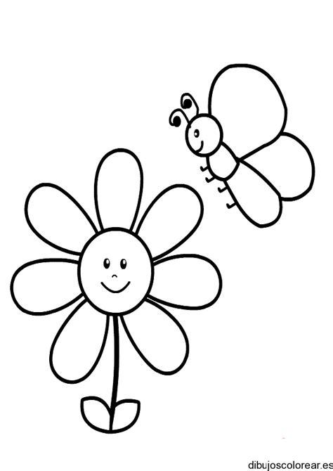 dibujo de mariposa en flores para colorear mariposas dibujos para colorear