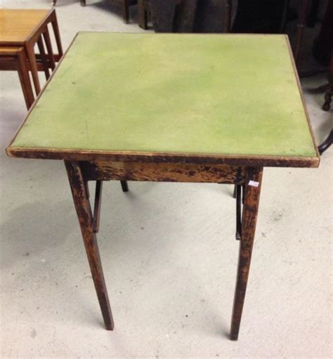 fold away card table a vintage fold away baize topped card table