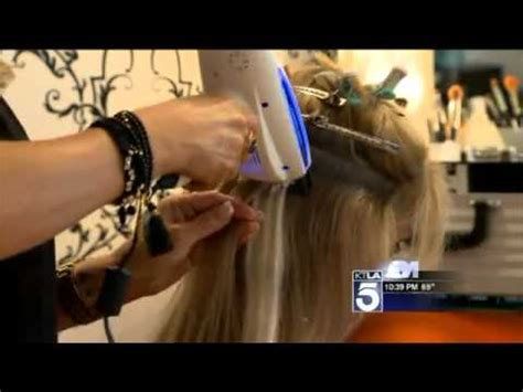 hair extension machine new laser technology promises healthy hair extensions