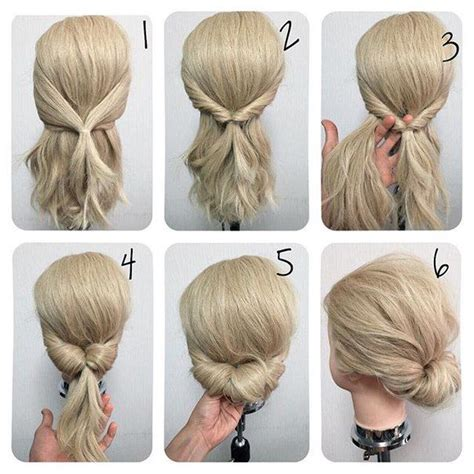 easy hairstyles for short hair tutorial step by step best 25 easy updo ideas on pinterest