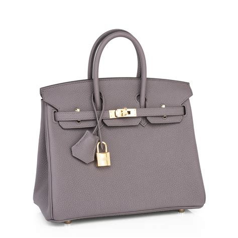 Richards And Hermes Birkin Bag by Hermes Birkin Bag 25cm Etain Togo Gold Hardware World S Best