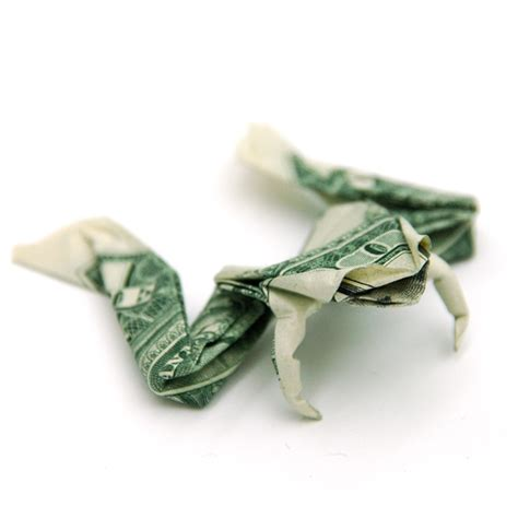 Origami Dollar Frog - one dollar frog by orudorumagi11 on deviantart