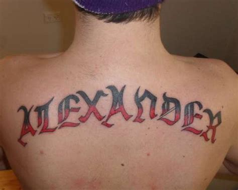 name tattoo designs for guys big back name designs for