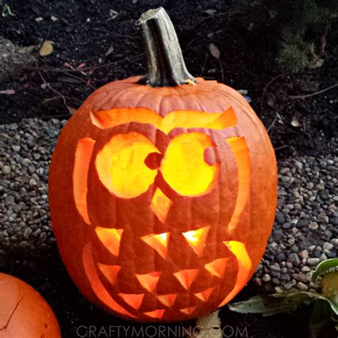 owl pumkin owl pumpkin free template for crafty morning