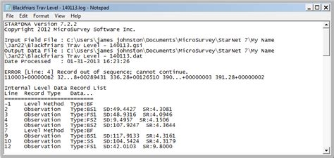 gsi format converter star dna log file states error record out of sequence