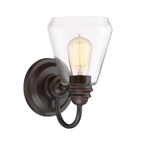Wall Lighting Sconce by Designers Foundry 1 Light Satin Bronze Wall