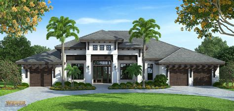 transitional home style transitional west indies style house plans by weber design