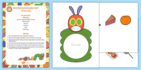 Pdf Eats 1 Early Years what did the caterpillar eat sensory bag to support