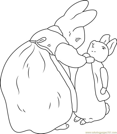 Beatrix Potter And Peter Rabbit Coloring Page Free Peter Beatrix Potter Colouring Pages