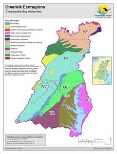 map omernik ecoregions chesapeake bay program