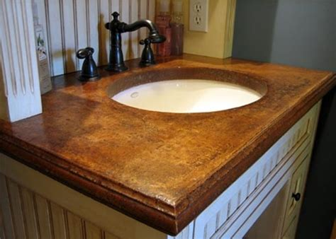 concrete countertops bathroom concrete vanity top for the home pinterest