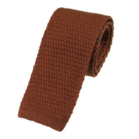 brown knit tie toffee brown wool knitted tie extras