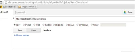 chrome rest client create and consume asp net webapi services mvc codeproject