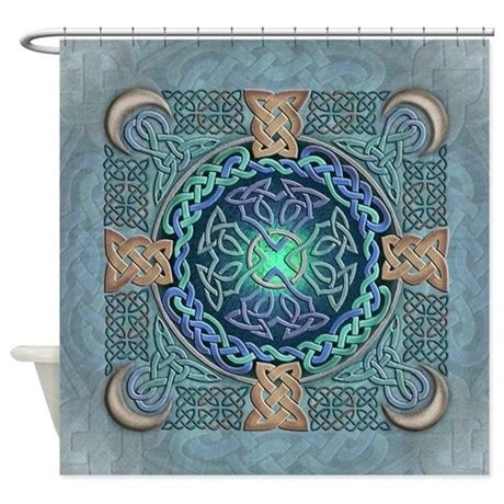 celtic curtains celtic eye of the world shower curtain by artoffoxvox