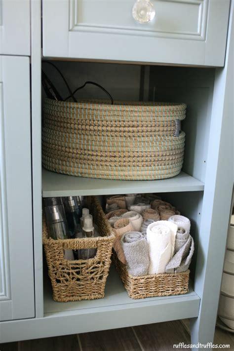 bathroom vanity baskets reved bathroom vanity diy project helpful