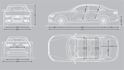 Audi A4 2002 Dimensions by Audi A4 Dimensions 2015 Uk Exterior And Interior Sizes
