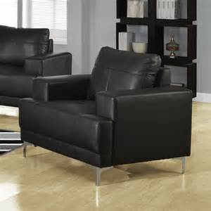 modern leather armchair in black modern accent chairs