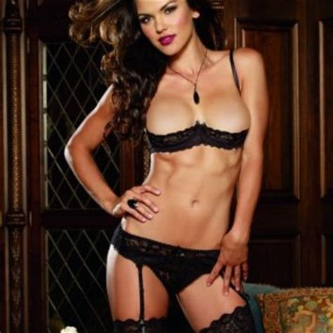 Promo Bra Cd Set Open black stretch lace open cup underwire bra from pink basis