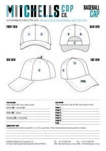 hat design template custom baseball cap template