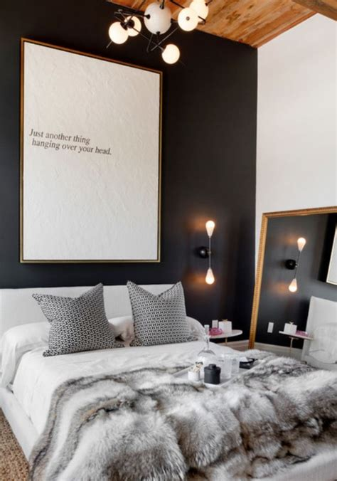 stylish bedrooms  black walls digsdigs