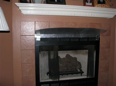 Fireplace Heat Deflector by How Can I Prevent The Mantel Above A Gas Fireplace From