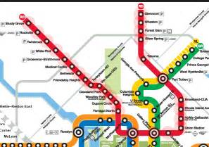 Metro Redline Map by Red Line Map Washington Metro
