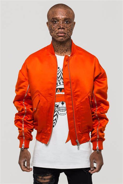 blind orange bomber jacket lcy  storenvy