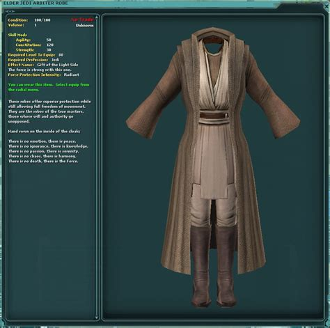 jedi robes swtor wars the republic jedi and sith robes