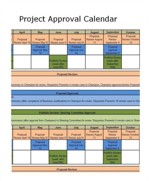 project management calendar template project calendar templates 9 free word excel pdf