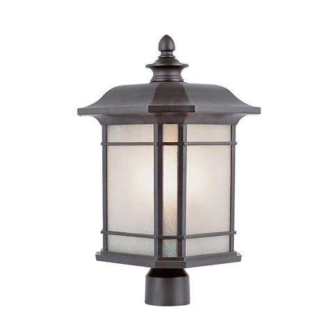 Sea Gull Lighting Outdoor Post Lanterns Collection 1 Light Outdoor Light Post Base