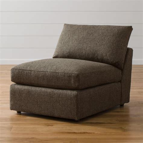 lounge ii armless  chair taft truffle crate  barrel