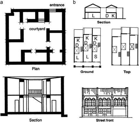 house plan section and elevation section and plan of house of ur mesopotamia a typical