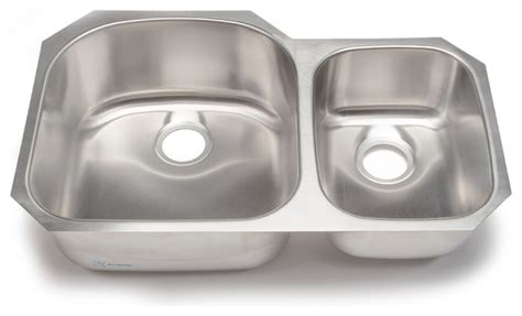 Clark Kitchen Sinks Stainless Steel Clark Stainless Steel 70 30 Bowl Kitchen Sink Traditional Kitchen Sinks By Your