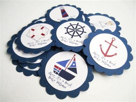 Nautical Baby Shower Favor Tags by Nautical Theme Favor Tags For Birthday