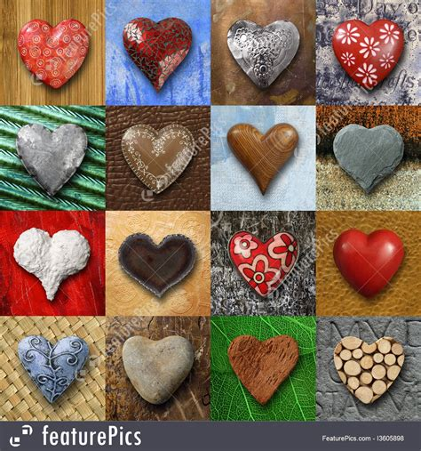 Valentines Day Decoration Abstract Forms Hearts Collage Stock Picture I3605898 At