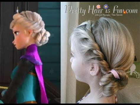 from frozen hairstyle elsa s coronation hairstyle disney s frozen youtube