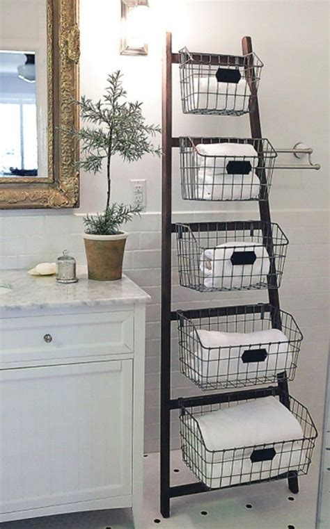 bathroom decorating with old ladder diy ladder ideas i like the different sizes of wire